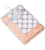 Bacati Grey Dots with Coral Border Baby Blanket