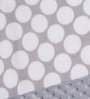 Bacati Grey Dots with Grey Border Baby Blanket