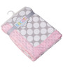 Bacati Grey Dots with Pink Border Baby Blanket