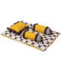 Bacati Grey Dots Yellow Grey 4 pc Mattress Set