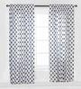 Bacati Grey Large Dots Curtain Panel Door Set of 2 pcs