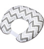 Bacati Grey Zigzag Nursing Pillow Cover Only