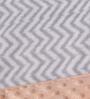 Bacati Grey ZigZag with Coral Border Baby Blanket