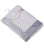 Bacati Grey ZigZag with Grey Border Baby Blanket