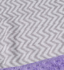 Bacati Grey ZigZag with Purple Border Baby Blanket