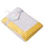 Bacati Grey ZigZag with Yellow Border Baby Blanket