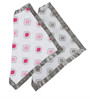 Bacati Moroccan Tiles Muslin Security Blankets in Pink & Grey (Set Of 2)