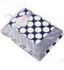 Bacati Navy Blue Dots with Grey Border Baby Blanket