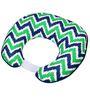 Bacati Navy Green Zigzag Nursing Pillow