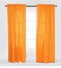 Bacati Orange Pin Dots Curtain Panel Door Set of 2 pcs
