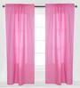 Bacati Pink Pin Dots Curtain Panel Door Set of 2 pcs