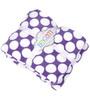 Bacati Purple Dots Baby Throw