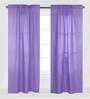 Bacati Purple Pin Dots Curtain Panel Door Set of 2 pcs