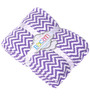 Bacati Purple ZigZag Baby Throw