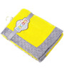 Bacati Solid Yellow with Grey border Baby Blanket