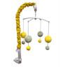 Bacati Yellow Pin Dots  Grey 10 CS Crib Set