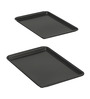 Baker's Secret Steel and Silicon 16.97 x 11.38 x 0.87 Inch Medium Cookie Sheet Set