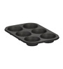 Baker's Secret Steel and Silicon 11.1 x 7.8 x 1.38 Inches Muffin Pan