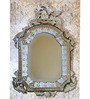 Balveny Decorative Mirror in Silver by Amberville
