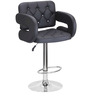 Bar Chair with Leatherette Arm Rests in Black Colour by Exclusive Furniture