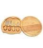 Bar World 5 Piece Cheese Knife Set with Wooden Cutting Board