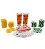 Bar World 63 pc Poker Drinking Game Set