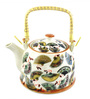 Bar World Porcelain 800 ML Teapot with Cane Handle (Model: YM8044TP-010)