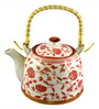 Bar World Porcelain 800 ML Teapot with Cane Handle (Model: YM8044TP-014)