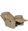 Barbados Recliner Chair in Beige Colour by @Home