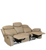 Barbados Three Seater Recliner Chair in Beige Colour by @Home
