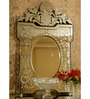 Barclay Decorative Mirror in Silver by Amberville