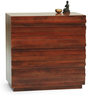 Bari Small Chest Of Drawers in Mahogany Finish by The ArmChair