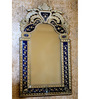 Barlow Decorative Mirror in Blue by Amberville