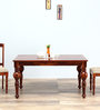 Barnsdale Six Seater Dining Table in Honey Oak Finish by Amberville