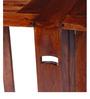 Winlock Six Seater Folding Dining Table in Honey Oak Finish by Woodsworth