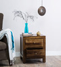 Rochester Solid Wood Bed Side Table in Provincial Teak Finish by Woodsworth