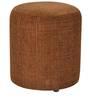 Barrel Fabric Pouffe in Mud Brown by SIWA Style