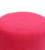 Barrel Fabric Pouffe in Pink by SIWA Style