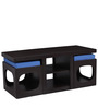 Baxter Coffee Table with Two Stools in Blue Colour by Auspicious