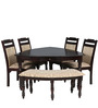 Baylor Six Seater Dining Set in Dark Espress Colour by HomeTown