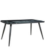 Bayview Print Glass Top Six Seater Dining Table with Metallic legs by Parin