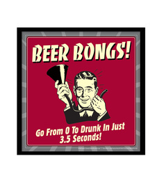 bCreative Paper & Fibre 13 x 1 x 13 Inch Beerbong Go From 0 To Drunk In Just 3.5 Seconds Officially Licensed Framed Poster