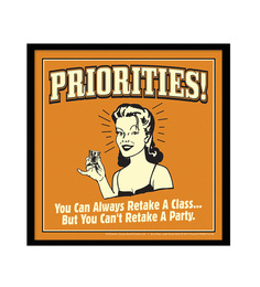 bCreative Paper & Fibre 13 x 1 x 13 Inch Priorities You Can Always Retake A Class Officially Licensed Framed Poster