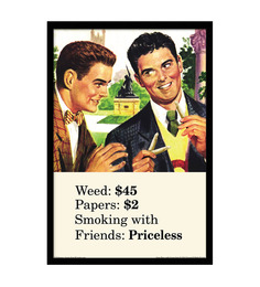 bCreative Paper & Fibre 13 x 1 x 19 Inch Weed Papers Smoking With Friends Officially Licensed Framed Poster
