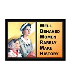 bCreative Paper & Fibre 19 x 1 x 13 Inch Well Behaved Women Rarely Make History Officially Licensed Framed Poster