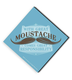 Bcreative With Great Mustache Comes Great Responsibility (Officially Licensed) Fridge Magnet