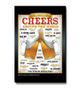 bCreative Multicolour MDF Cheers Around The World Beer Fridge Magnet