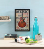 Bcreative Glass, Fibre & Paper 8 x 1 x 12 Inch Music Inspires Me Officially Licensed Framed Poster