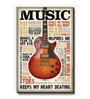 bCreative Multicolour MDF Music Inspires Me Fridge Magnet