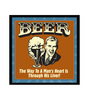 bCreative Paper & Fibre 13 x 1 x 13 Inch Beer The Way To Man's Heart Is Through His Liver! Officially Licensed Framed Poster